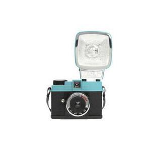 Sofortbildkamera Lomography Diana Mini + Blau/Schwarz + Objektiv Lomography 24 mm f/8-11