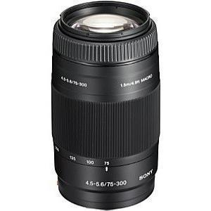 Teleobjetivo con zoom Sony Alpha SAL75300 - 75-300 - 4.5-5.6 - 1.5m / 4.9ft