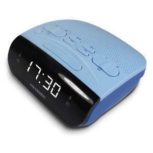 Radio Réveil Metronic Duo Colors Double Alarme - Bleu