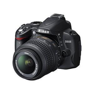 Reflex Nikon D3000 - Zwart + Lens  18-55mm f/3.5-5.6GVR