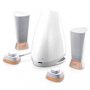 Enceinte  Bluetooth Genius Lumina - Blanc/Gris
