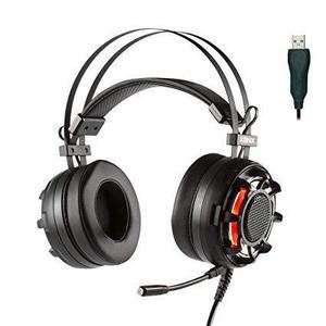 Casque Réducteur de Bruit Gaming avec Micro Konix Drakkar Ragnarok - Noir