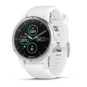 Montre Cardio GPS Garmin Fenix 5S - Argent/Blanc