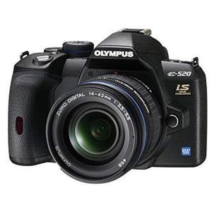 Réflex Olympus E-520 SLR + Lente Olympus Zuiko Digital 14 - 42 mm Negro
