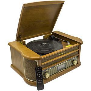 Vintage HiFi-System mit Bluetooth-Plattenspieler Roadstar Vintage Line HIF-1993BT - Braun