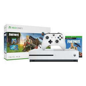 Console Microsoft Xbox One S 1 To + Manette + Jeu Fortnite - Blanc