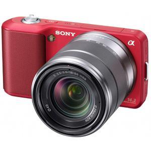Hybrid Kamera Sony Alpha NEX-3 - Rot + Objektiv 18 - 55mm f/3.5-5.6 OSS