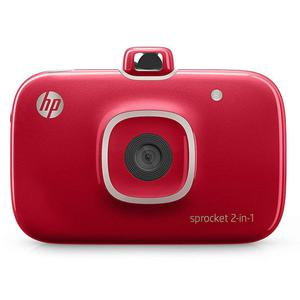 Sofortbildkamera HP Spocket 2 in 1 - Rot