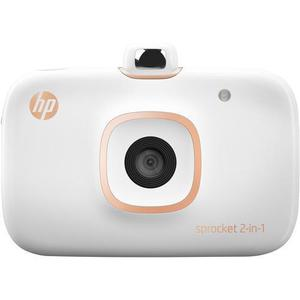 Appareil photo instantané Hp Sprocket 2en1 - Blanc + MicroSD 8Go