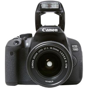 Spiegelreflexkamera - Canon EOS 700D - Schwarz + Canon 18-55 IS STM + 55-250 IS STM Objektiv
