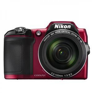 Kompakt Bridge Kamera Nikon Coolpix L840 Rot + Objektiv Nikon 38x Optical Zoom NIKKOR ED VR 4-152 mm f/3-6.5