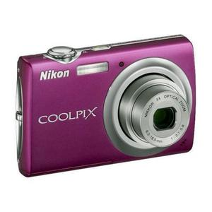Compact - Nikon Coolpix S220 Magenta Nikon Nikkor 3X Optical Zoom 35-105mm f/3.1-5.9