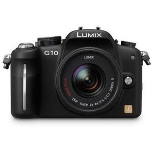 Macchina fotografica ibrida Panasonic Lumix DMC-G10 - Nero + obiettivo Panasonic Lumix G Vario 14-42mm f/3.5-5.6 II ASPH. MEGA O.I.S