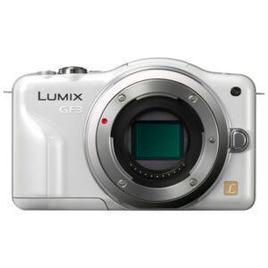 Cámara híbrida Panasonic Lumix DMC-GF3 - Blanco