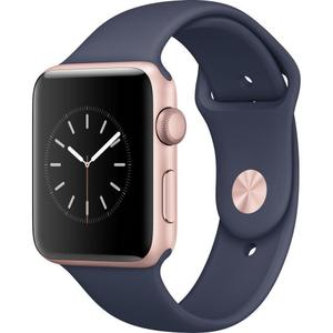 Apple Watch (Series 2)  42 mm - Aluminio Oro rosa -  Correa Deportiva Azuloscuro