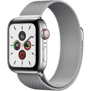Apple Watch (Series 5) September 2019 40 mm - Rostfreier Stahl Silber - Armband Milanaise Armband Silber