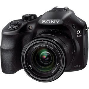Sony Alpha a3000 DSLR - Musta + Objektiivit Sony E 18-55mm f/3.5-5.6 OSS