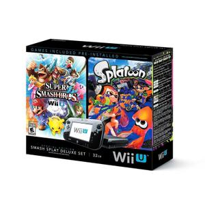 Console Nintendo Wii U 32 Go + Super Smash Bros + Splatoon - Noir