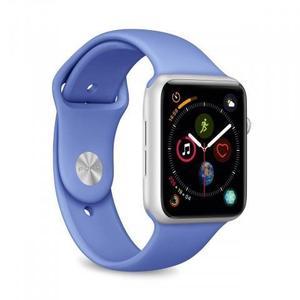 Apple Watch (Series 4)  44 mm - Aluminium Silber -  Armband Sportarmband Blau
