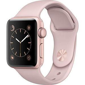 Apple Watch (Series 2) September 2016 42 mm - Aluminium Goud - Armband Sport armband Roze