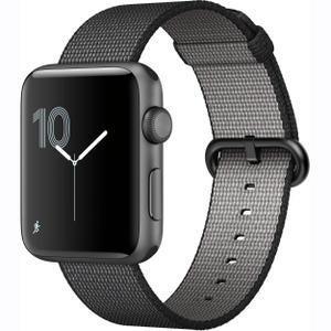 Apple Watch (Series 2) Settembre 2017 42 mm - Alluminio Grigio Siderale - Cinturino Nylon intrecciato Grigio