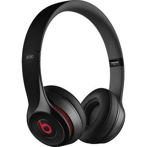 Beats By Dr. Dre Solo2 Luxe Edition Noise-Cancelling Bluetooth Headphones with microphone - Black/Red