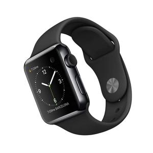 Apple Watch (Series 2) December 2016 42 mm - Roestvrij staal Spacegrijs - Armband Sport armband Zwart