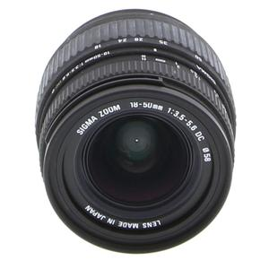 Lens Sigma A-mount 18-50MM 1: 3.5-5.6 DC