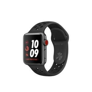 Apple Watch (Series 3) Οκτώβριος 2017 38mm - Αλουμίνιο Space Gray - Αθλητισμος Εμφανισεις Nike Μαύρο