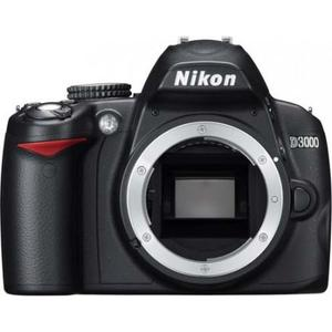 Cámara Reflex - Nikon D3000 - Negro + Objetivo Nikon dx af-s 18-105 mm