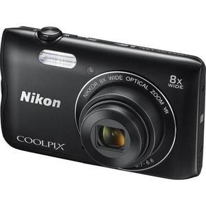 Compact - Nikon Coolpic A300 Noir Nikon Nikkor Wide Optical Zoom 25-200 mm f/3.7-6.6 VR