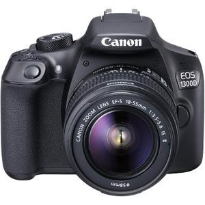 Reflex Canon EOS 1300D - Nero + Obiettivi Canon EF-S 18-55mm f/3.5-5.6 IS II