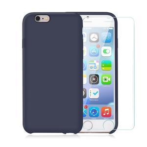 Pack iPhone 6 Plus / iPhone 6S Plus Silikon Hülle Nachtblau + gehärtetes Glas
