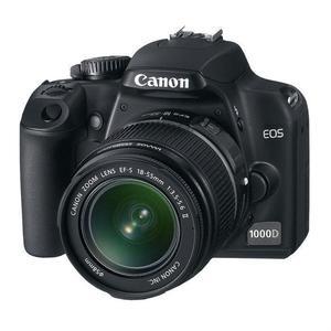 Cámara Reflex - Canon EOS 1000D + Objetivo Canon EF-S 18 55mm