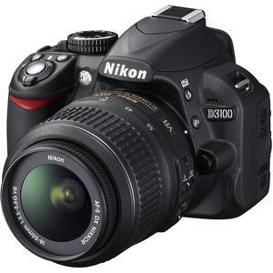 Spiegelreflexcamera Nikon D3100 - Zwart + lens Nikon AF-S DX Nikkor 18-55mm f/3.5-5.6G VR