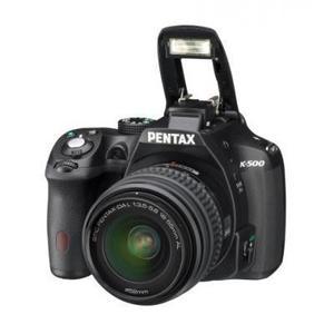Spiegelreflexcamer Pentax K-500 - Zwart + Lens Pentax DA 18-55mm 1:3.5-5.6 AL