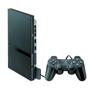Console Sony Playstation 2 Slim + 1Manette + Carte Mémoire 8 Mo- Noir