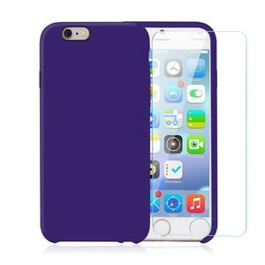 Pack iPhone 6 / iPhone 6S Funda Violeta En Silicona & Cristal Templado