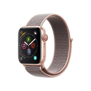 Apple Watch (Series 4)  40 mm - Aluminium Or rose -  Bracelet Nylon tissé Rose