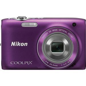 Compactcamera Nikon Coolpix S3100 - Paars + Lens Nikon Nikkor 5X Wide Optical Zoom