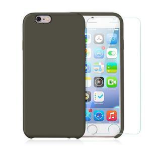 Pack iPhone 6 / iPhone 6S Funda Gris Verdoso En Silicona & Cristal Templado