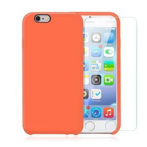 Pack iPhone 6 Plus / iPhone 6S Plus Silikon Hülle Nektarine + gehärtetem Glas