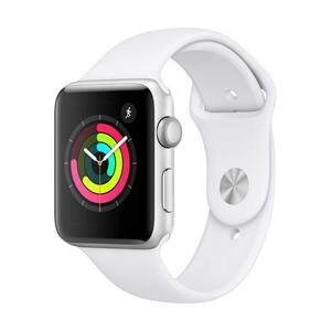 Apple Watch (Series 2) 38 mm - Roestvrij staal Zilver - Armband Sport armband Wit