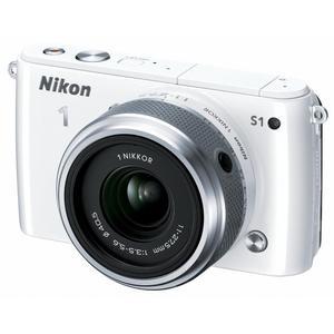 Hybrid Nikon 1 S1 - Valkoinen + Objektiivi Nikon 11-27.5mm f/3.5-5.6
