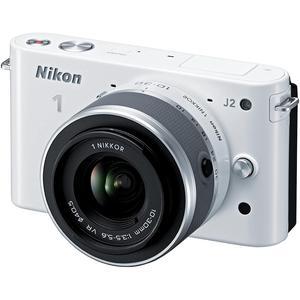 Cámara híbrida Nikon 1 J2 - Blanco + lente Nikon 1 Nikkor VR 10-30 mm f/3.5-5.6