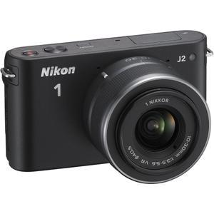 Hybride - Nikon 1 J2 - Noir + Objectif Nikkor 10-30 mm