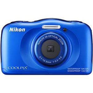 Compactcamera Nikon Coolpix S33 - Blauw + lens Nikon Nikkor Optical Zoom 30-90 mm f/3.3-5.9