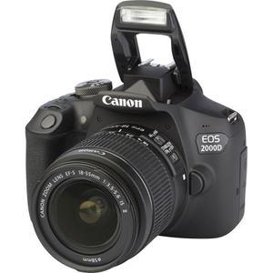 Reflex Canon EOS 2000D - Noir + objectif efs 18-55mm