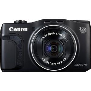 Compact Canon PowerShot SX700 HS - Musta + Objektiivi Canon 25–750mm f/3.2–6.9