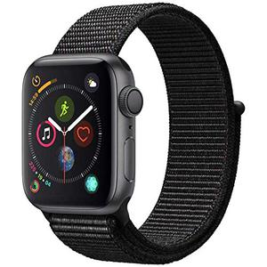 Apple Watch (Series 4) September 2018 44 mm - Aluminium Spacegrijs - Armband Sport armband Zwart